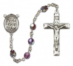 St. Germaine Cousin Sterling Silver Heirloom Rosary Squared Crucifix [RBEN0209]
