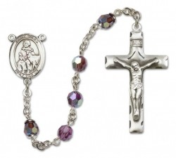 St. Giles Sterling Silver Heirloom Rosary Squared Crucifix [RBEN0212]