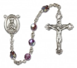 St. Henry II Sterling Silver Heirloom Rosary Fancy Crucifix [RBEN1217]