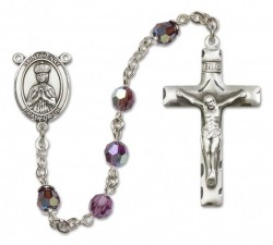 St. Henry II Sterling Silver Heirloom Rosary Squared Crucifix [RBEN0217]