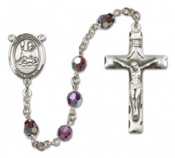 St. Honorius Sterling Silver Heirloom Rosary Squared Crucifix [RBEN0219]