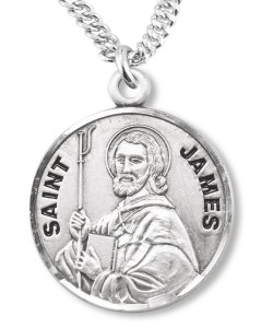 Round Sterling Silver St. James Medal [REE0089]