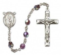 St. James the Lesser Sterling Silver Heirloom Rosary Squared Crucifix [RBEN0230]
