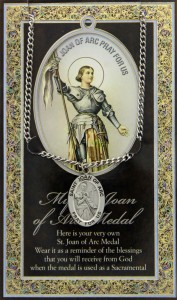 St. Joan of Arc Medal in Pewter with Bi-Fold Prayer Card [HPM032]