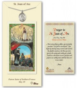 St. Joan of Arc Medal in Pewter with Prayer Card [BLPCP044]