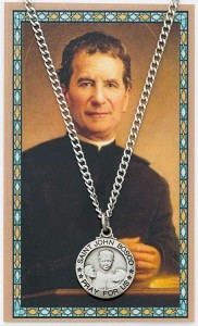 St. John Bosco Medal with Prayer Card [PC0102]