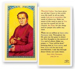 St. John Neumann Pray For Us Laminated Prayer Cards 25 Pack [HPR473]