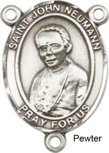 St. John Neumann Rosary Centerpiece Sterling Silver or Pewter [BLCR0306]