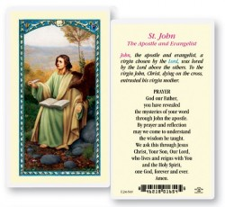 St. John The Evangelist Laminated Prayer Cards 25 Pack [HPR470]