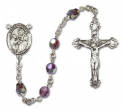 St. John of God Sterling Silver Heirloom Rosary Fancy Crucifix [RBEN1244]