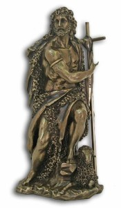 St. John the Baptist Bronzed Resin Statue - 9.5 Inches [GSCH1125]