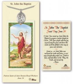 St. John the Baptist Medal in Pewter with Prayer Card [BLPCP014]