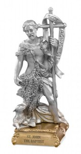 Saint John the Baptist Pewter Statue 4 Inch [HRST964]