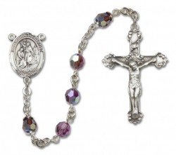 St. John the Baptist Sterling Silver Heirloom Rosary Fancy Crucifix [RBEN1247]