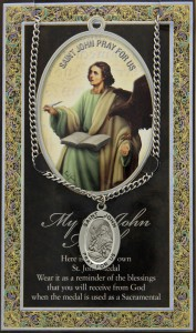 St. John the Evangelist Medal in Pewter with Bi-Fold Prayer Card [HPM033]