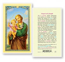 St. Joseph 50th Year Our Lord Laminated Prayer Cards 25 Pack [HPR632]
