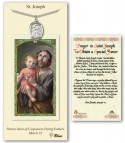 St. Joseph Medal in Pewter with Prayer Card [BLPCP016]