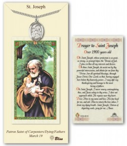 St. Joseph Medal in Pewter with Prayer Card [BLPCP017]