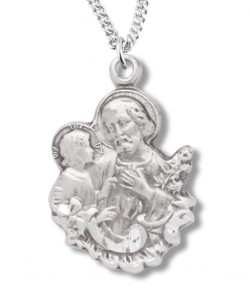 St. Joseph and Child Figure Form Necklace [RE0020]