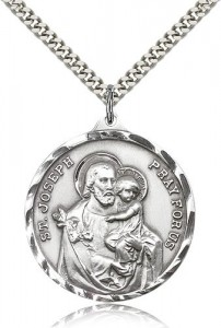 Men's Large Saint Joseph Medal [CM2141]