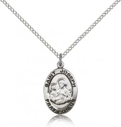 Women's Small Oval St. Joseph Medal [BM0739]