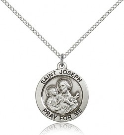 Women's Pray for Me Round St. Joseph Medal [BM0741]