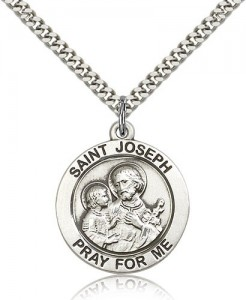 Men's Pray for Me St. Joseph Necklace [BM0742]