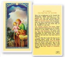 St. Joseph Protector of Homes Laminated Prayer Cards 25 Pack [HPR636]