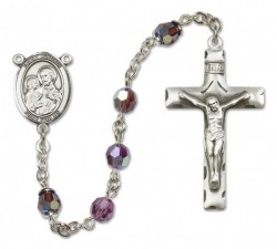 St. Joseph Sterling Silver Heirloom Rosary Squared Crucifix [RBEN0250]