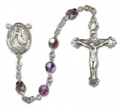 St. Joseph of Cupertino Sterling Silver Heirloom Rosary Fancy Crucifix [RBEN1253]