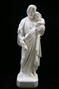 Saint Joseph with Child Statue Marble Composite - 24 inch [VIC3003]