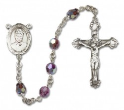 St. Josephine Bakhita Sterling Silver Heirloom Rosary Fancy Crucifix [RBEN1255]