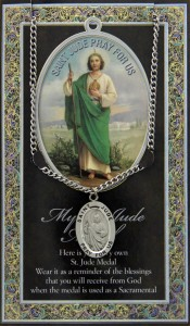 St. Jude  Medal in Pewter with Bi-Fold Prayer Card [HPM005]