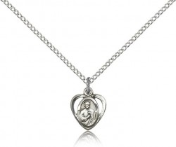 Petite Saint Jude Medal Heart Shaped [BM0764]
