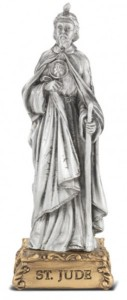 Saint Jude Pewter Statue 4 Inch [HRST320]