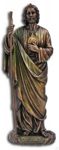 St. Jude Statue, Bronzed Resin - 8 inch [GSS041]