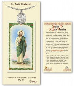 St. Jude Thaddeus Medal in Pewter with Prayer Card [BLPCP018]