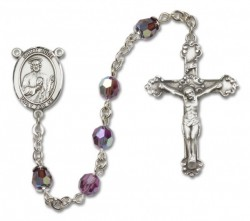 St. Jude Thaddeus Sterling Silver Heirloom Rosary Fancy Crucifix [RBEN1258]