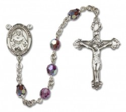 St. Julia Billiart Sterling Silver Heirloom Rosary Fancy Crucifix [RBEN1261]