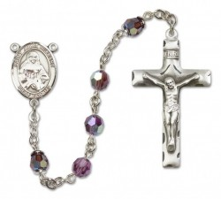 St. Julia Billiart Sterling Silver Heirloom Rosary Squared Crucifix [RBEN0259]