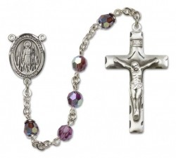 St. Juliana Sterling Silver Heirloom Rosary Squared Crucifix [RBEN0260]