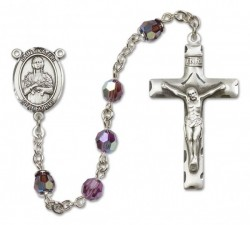 St. Kateri Sterling Silver Heirloom Rosary Squared Crucifix [RBEN0264]