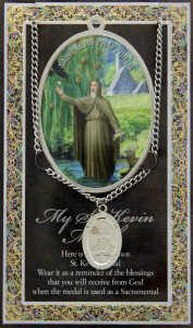 St. Kevin Medal in Pewter with BiFold Prayer Card [HPM034]