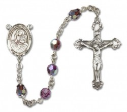 St. Lidwina of Schiedam Sterling Silver Heirloom Rosary Fancy Crucifix [RBEN1273]