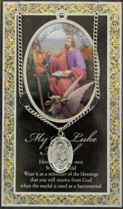 St. Luke Medal in Pewter with Bi-Fold Prayer Card [HPM036]