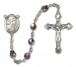 St. Luke the Apostle Sterling Silver Heirloom Rosary Fancy Crucifix [RBEN1280]