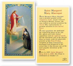 St. Margaret Mary Alacoque Laminated Prayer Cards 25 Pack [HPR484]
