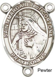 St. Margaret of Cortona Rosary Centerpiece Sterling Silver or Pewter [BLCR0399]