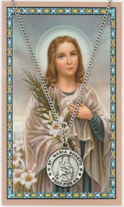 St. Maria Goretti Medal with Prayer Card [PC0109]
