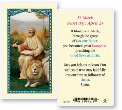 St. Mark Laminated Prayer Cards 25 Pack [HPR488]
